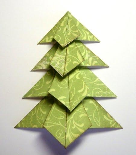 новогодняя елка +из бумаги