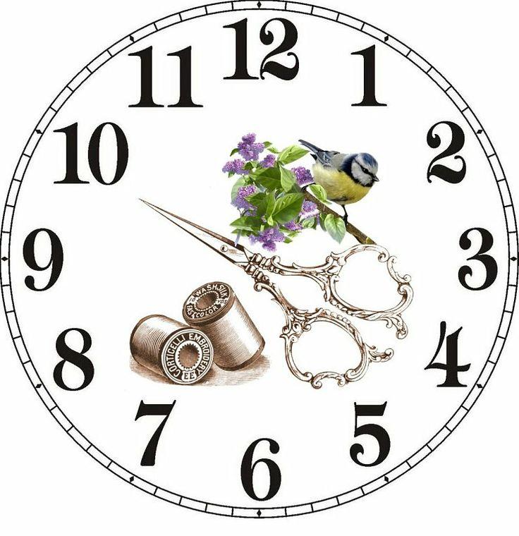часы в технике декупаж