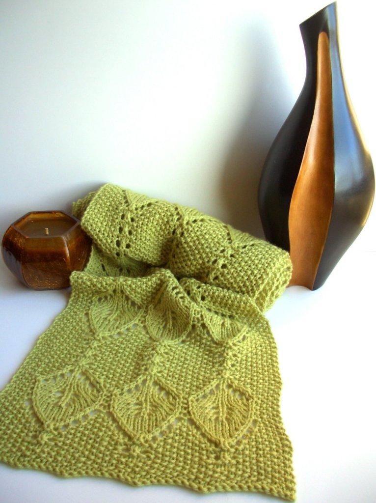 вязание шарфа спицами схемы