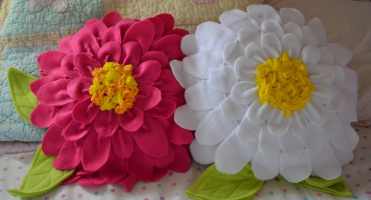 подушки цветы своими руками