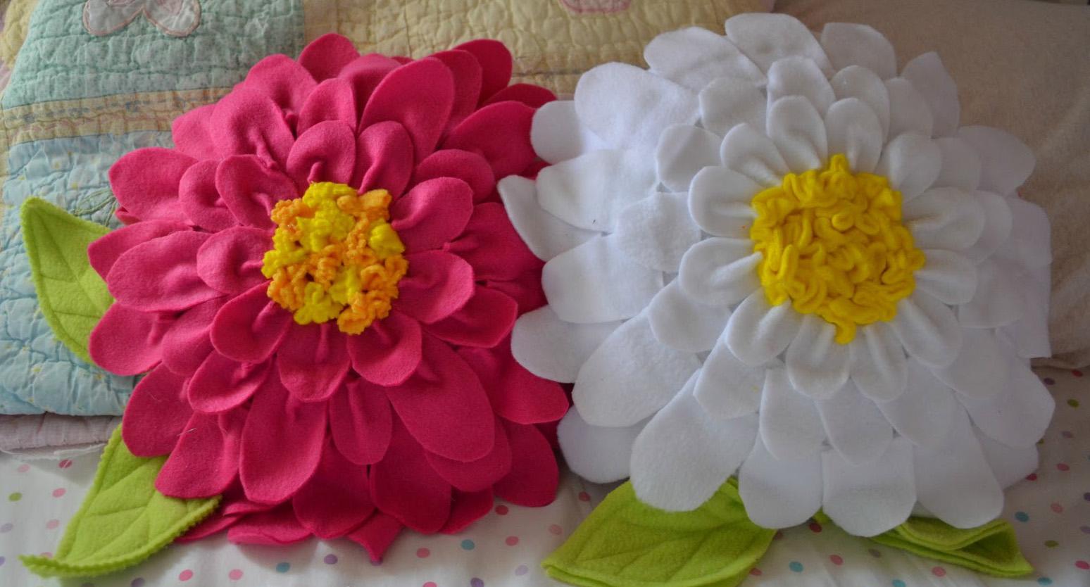 Как сшить подушку цветок мастер класс