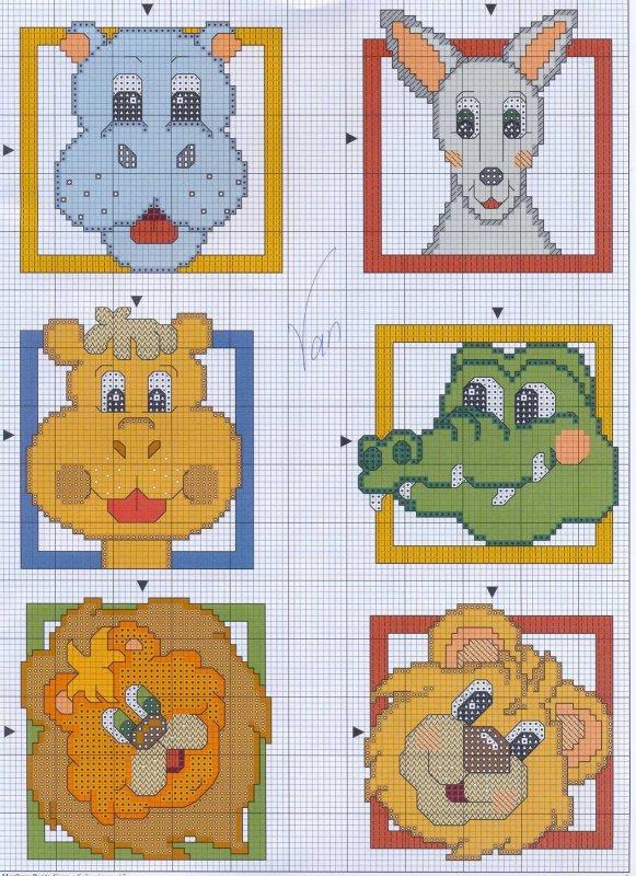 схема вышивки животные
