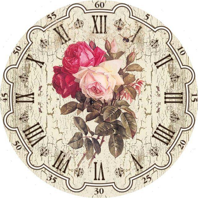 Мега картинки циферблатов часов для декупажа