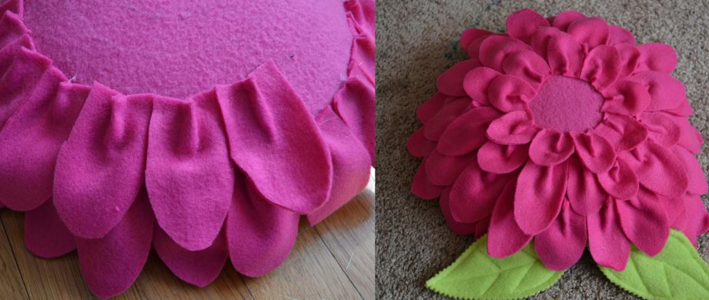 Цветы для подушек своими руками 713