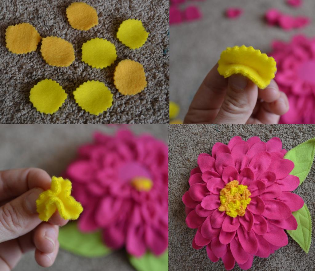 декоративная подушка цветок из флиса