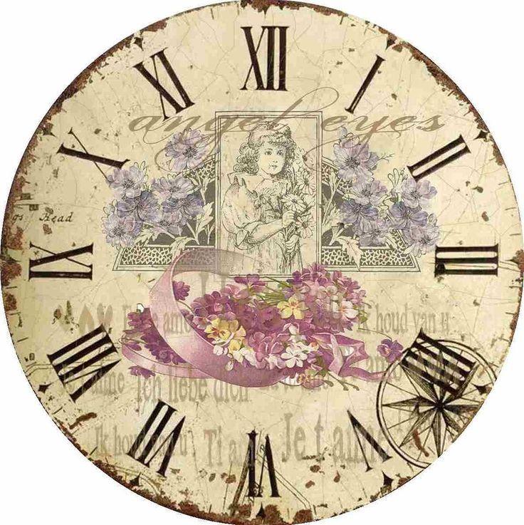 настенные часы своими руками декупаж
