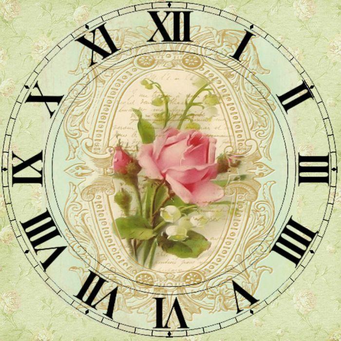 декупаж циферблаты часов