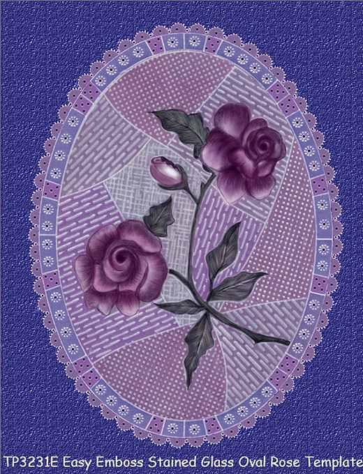 пергамано шаблон роза