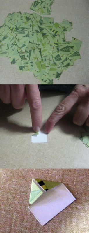 как сделать шишку из бумаги