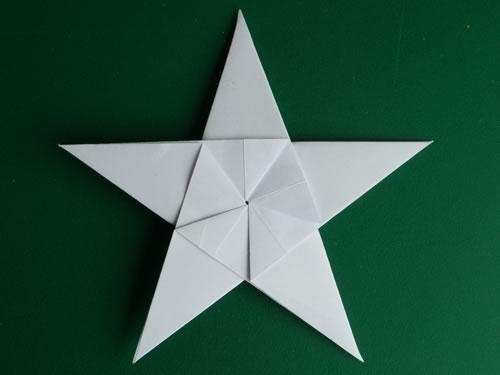 оригами звезда из бумаги