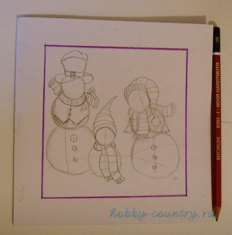 новогодние открытки своими руками пошагово