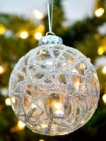 декор новогодних шариков