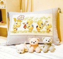вышивка крестом детские подушки схемы
