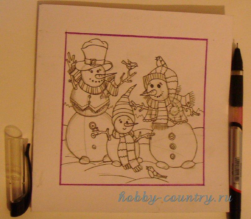 новогодние открытки рисунки