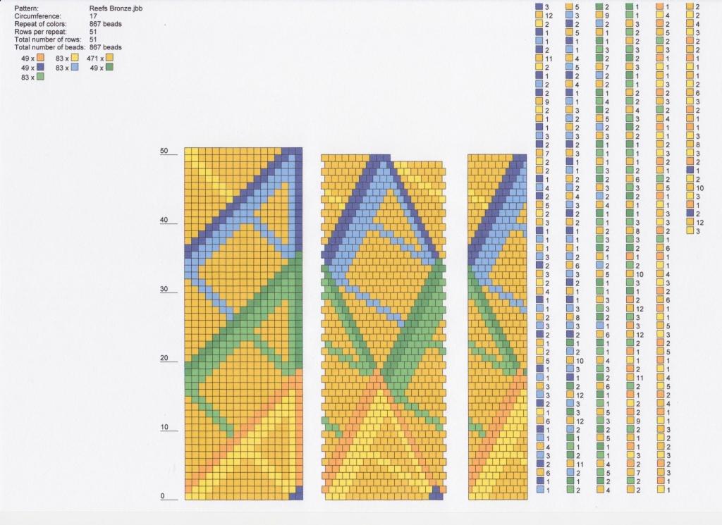 Схем по вязанию жгутов из бисера 447