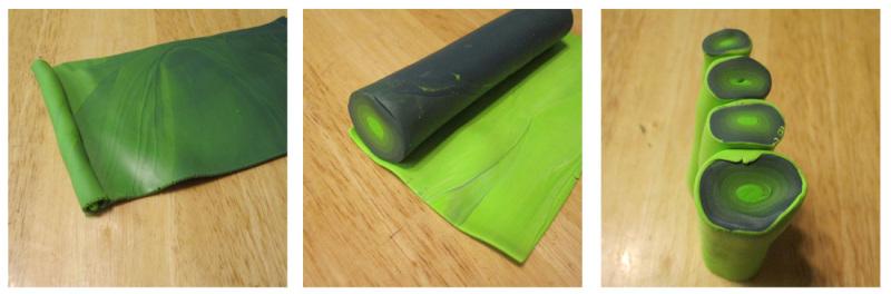 листочки из полимерной глины