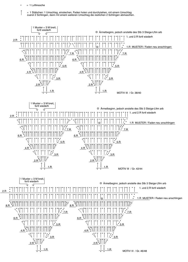 жакет крючком схема и описание