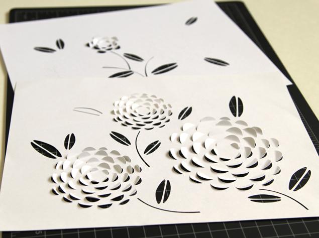 вырезание из бумаги шаблоны цветов
