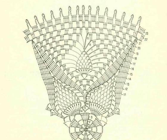 салфетки крючком схемы