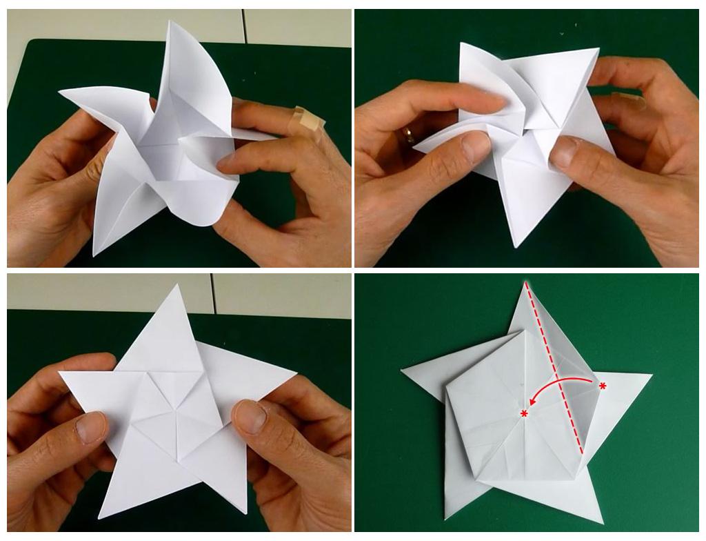 оригами рождественская звезда
