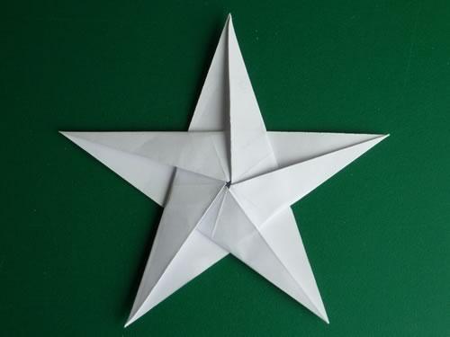 звезда оригами схема