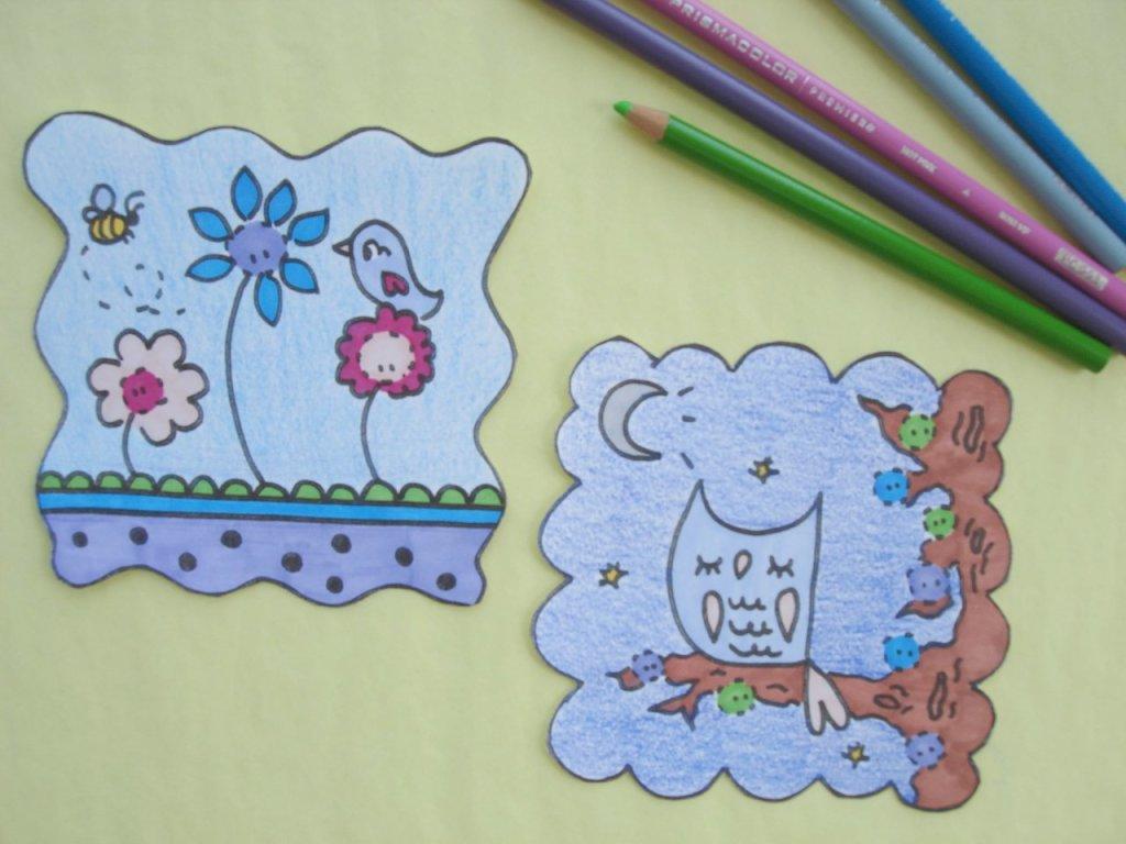 нарисованные открытки детьми