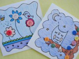 открытки сделанные руками детей