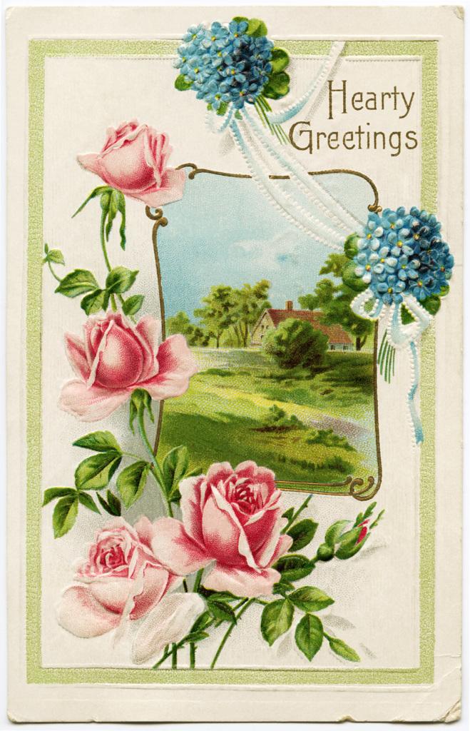 картинки для декупажа цветы винтаж
