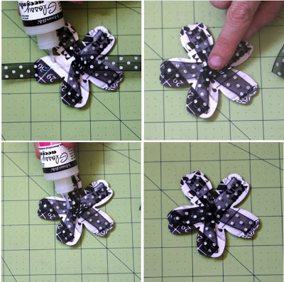 цветок из бумаги и ленты мастер класс