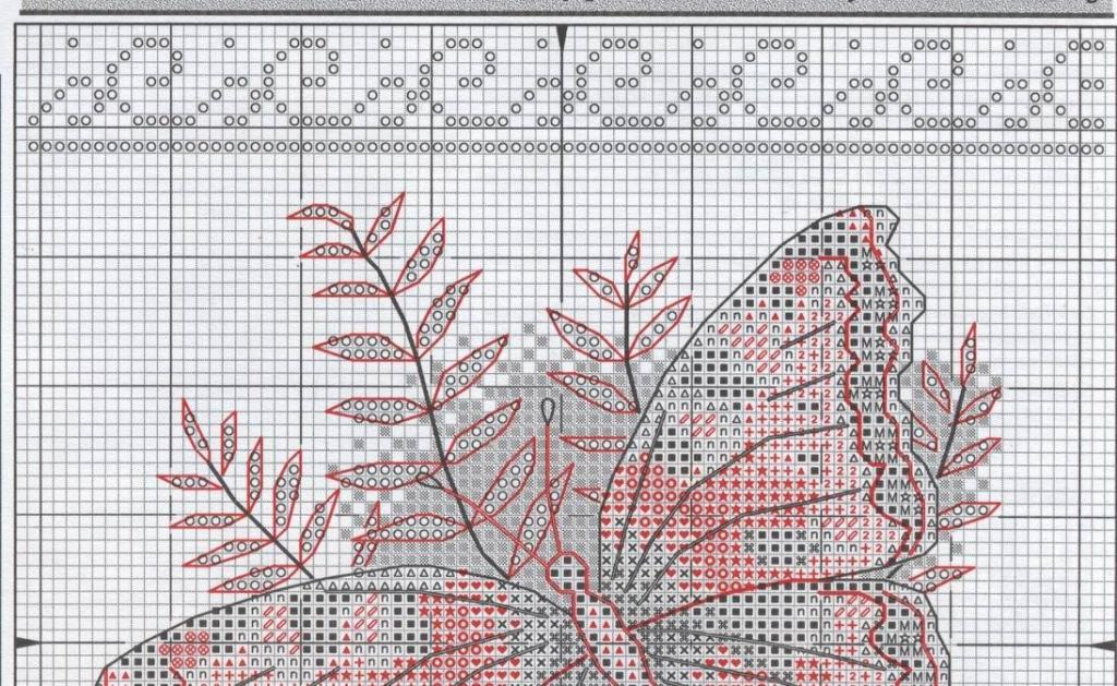 вышивка бабочки схема