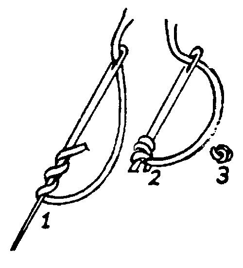 французский узелок