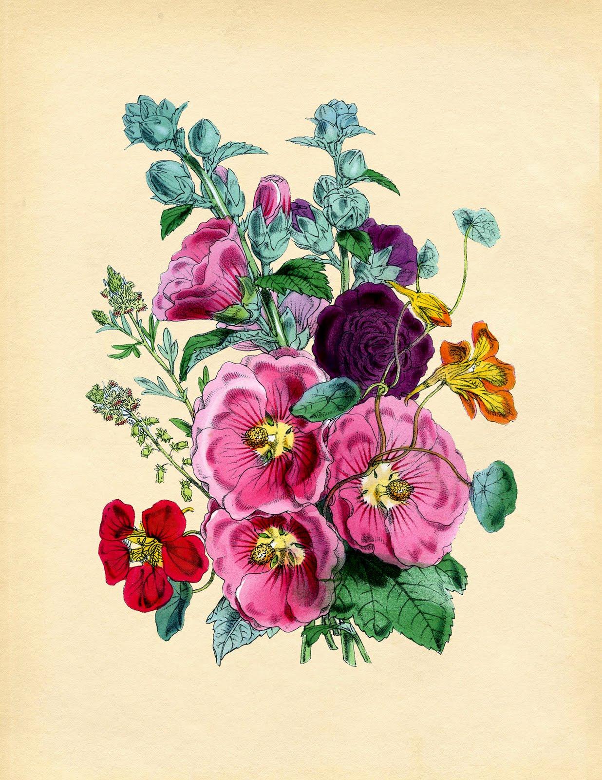 обаятельной рисунки открытки с цветами оно