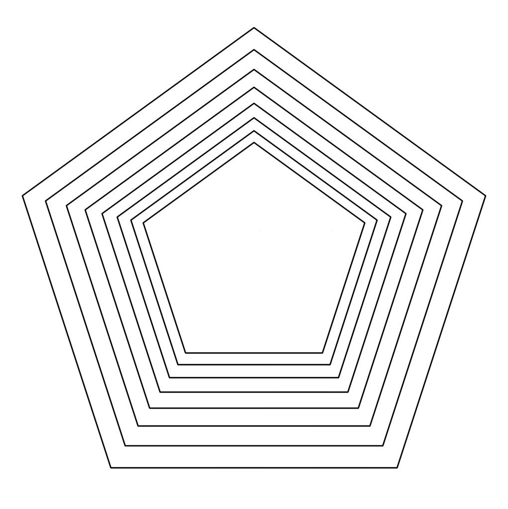 шаблон пятиугольника