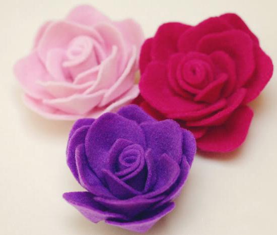 как сделать розы из фетра