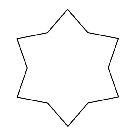 шестиконечная звезда шаблон
