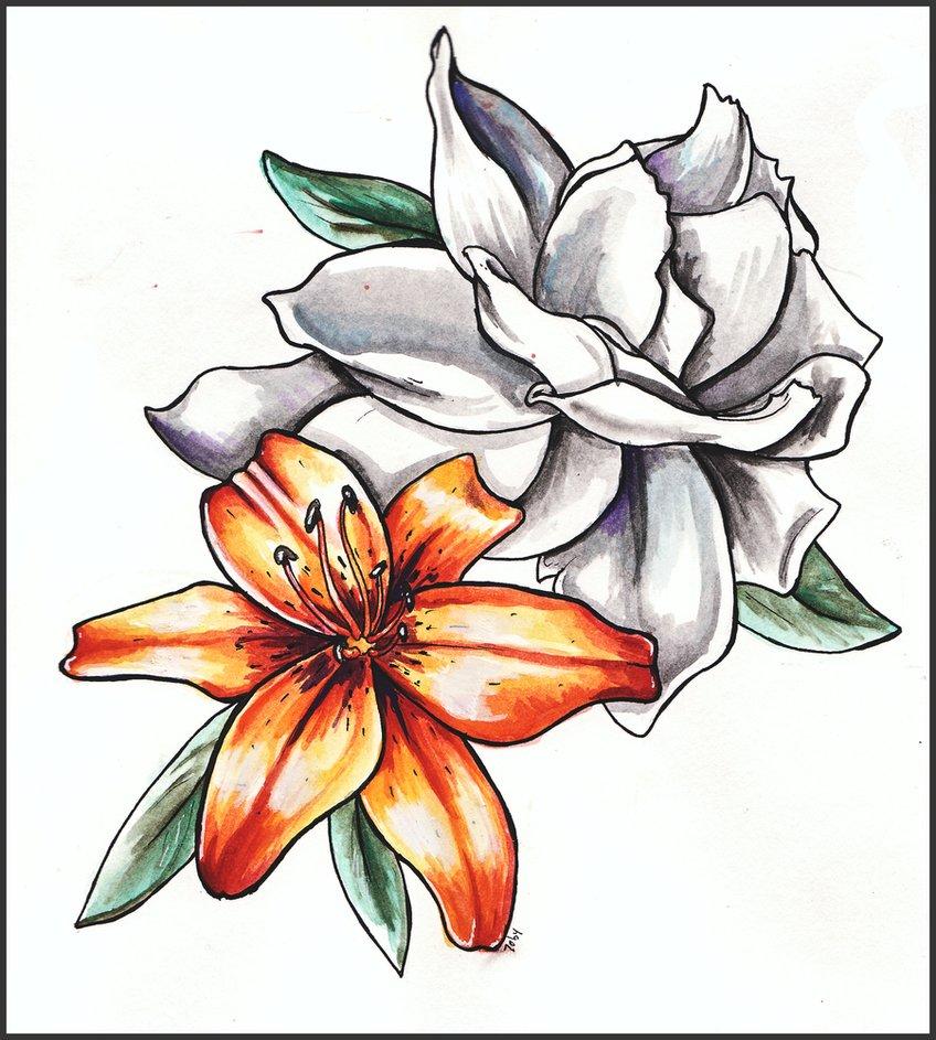 рисунки цветов для декупажа