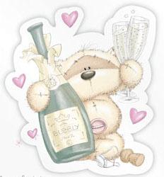 мишка с шампанским картинки