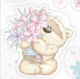 Открытка на 8 марта с медвежонком Fizzy-moon