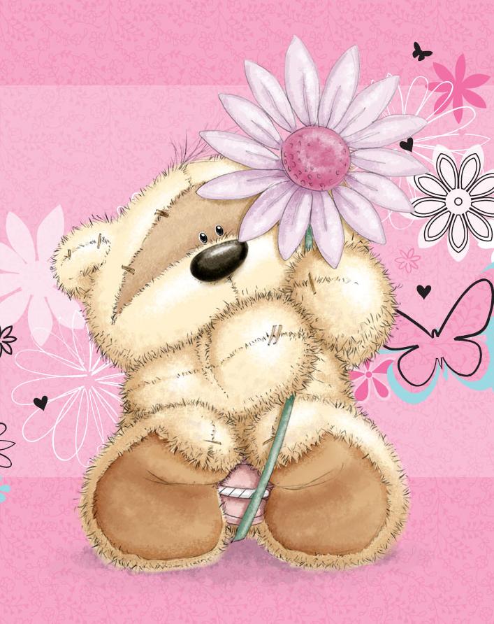мишка с цветком картинки