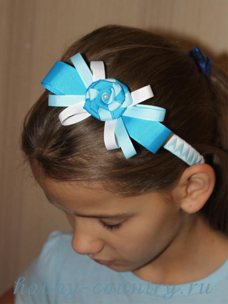 Украшение на волосы для девочек своими руками 678