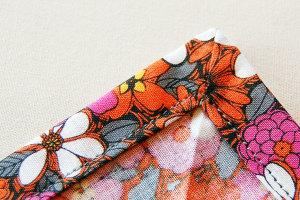 обработка прямого угла на ткани