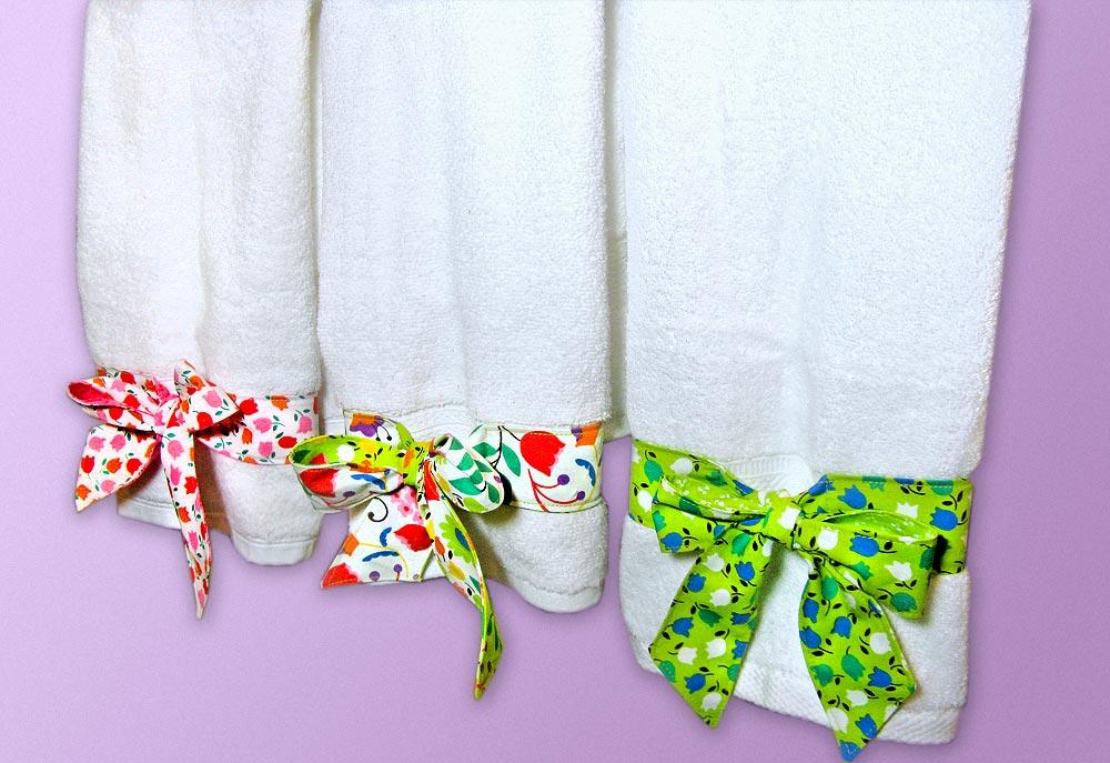Украшение полотенца своими руками