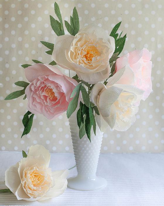 цветы из бумаги пионы