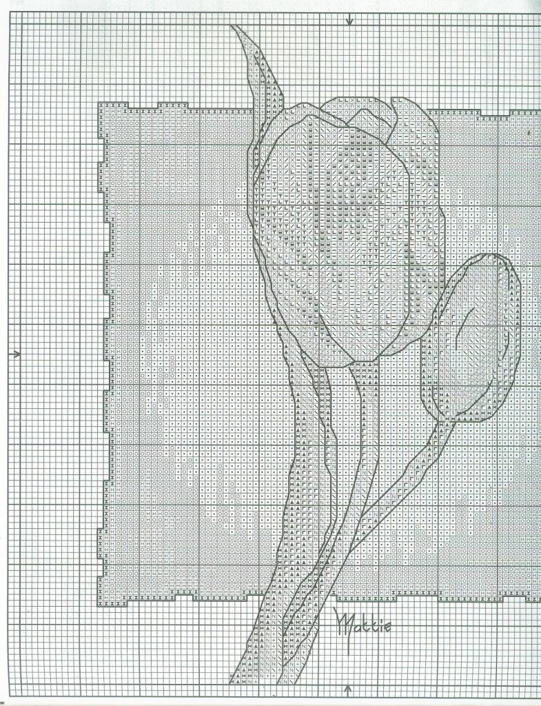 вышивка крестом схемы бесплатно тюльпаны