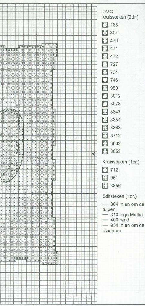 схема крестом тюльпаны