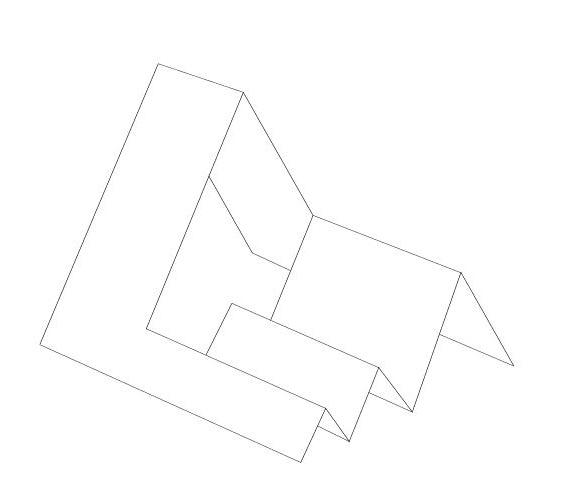 Открытка сложной формы ступеньки