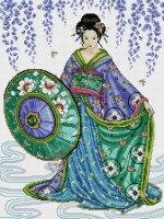 blue geisha схема для вышивки