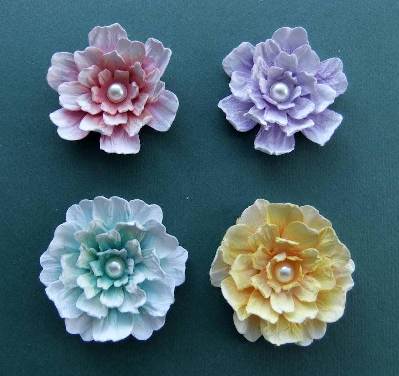 цветы для скрапбукинга мастер класс