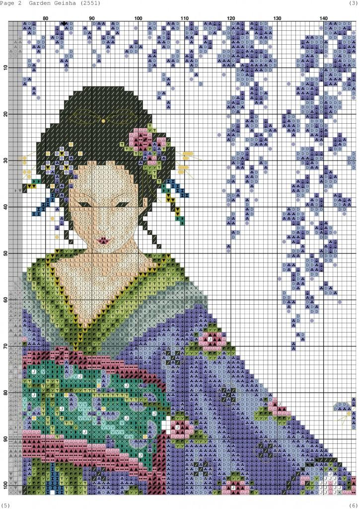 Скачать схемы по вышивке гейши