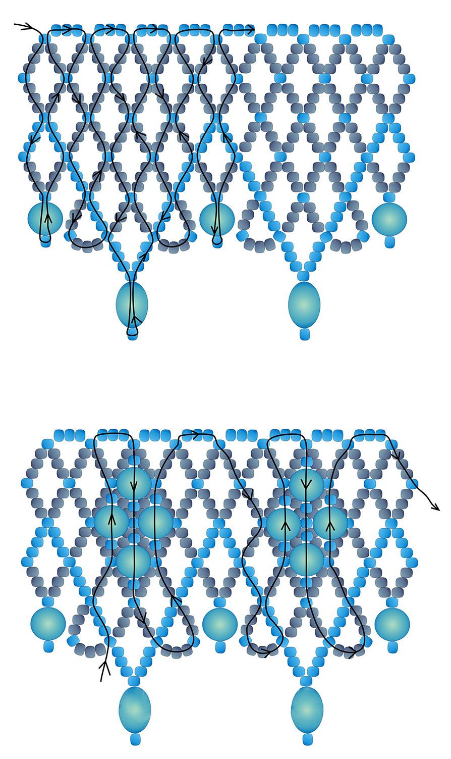 Простое ожерелье из бисера своими руками со схемами
